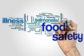 verschieden Wörter: food safety, illness, ... © AdobeStock / ibreakstock